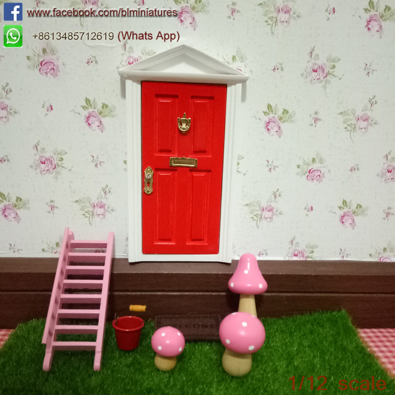 1 12 scale doll house house miniature triangle for Wooden fairy doors that open