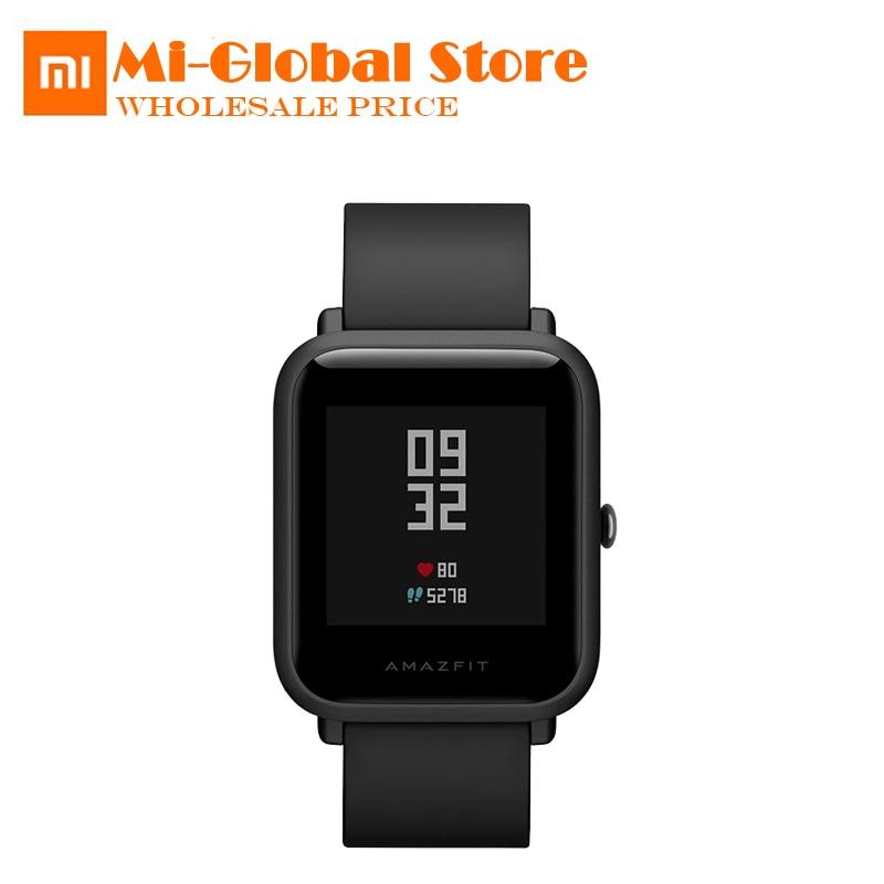все цены на Xiaomi Huami Amazfit Smart Watch Youth Edition (Pace Lite) Bip Bit GPS Heart Rate Monitor IP68 32g ultra-light 45 Days Standby онлайн