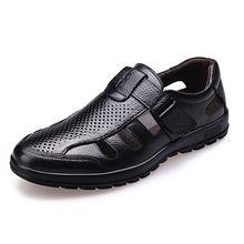 ABDB-Genuine Leather Men Sandals Shoes Fretwork Breathable Fisherman Shoes Style Retro Gladiator Soft Bottom summer Classics m