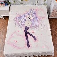 Japanese Anime Seirei Tsukai Bed Bedding Sheet Sexy Bedsheet 3d Fitted Carpet Manga Duvet Cover Quilt Flannel Mattress