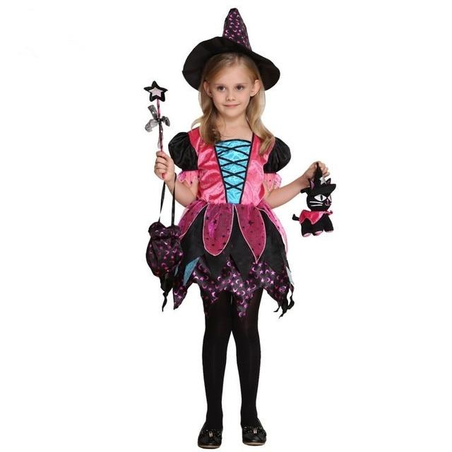 Us 3999 Kinder Halloween Kostüme Für Mädchen Halloween Hexe Kinder Kostüm Magie Kostüm Für Mädchen Halloween Cosplay Kleidung Magier Kleid