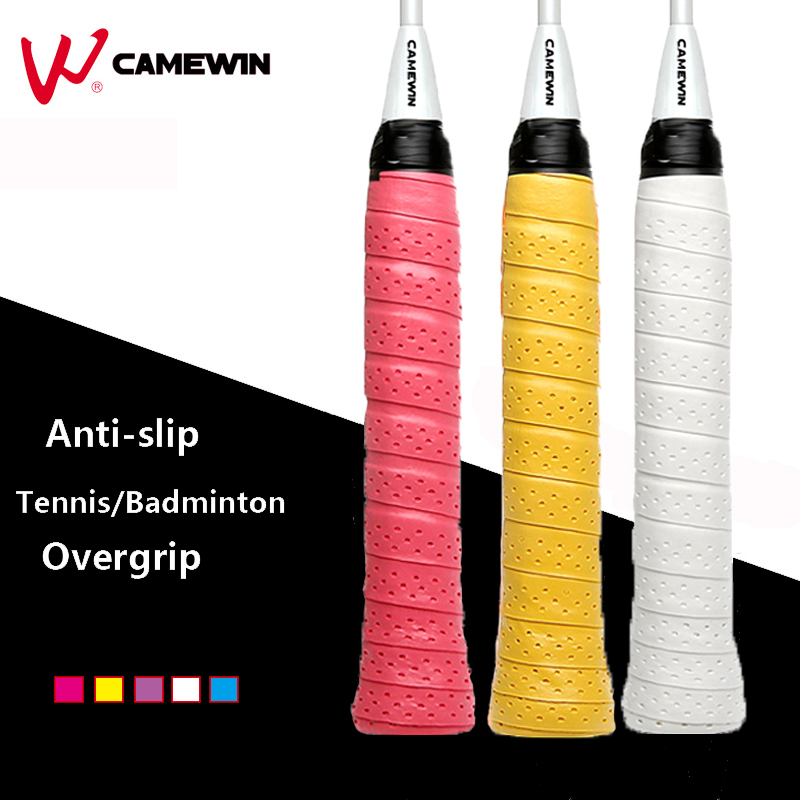 5 Pcs/lot Anti-slip Tennis Badminton Racket Overgrip Sweatband CAMEWIN Brand Non-slip Breathable Fishing Rod Over Grip Sweatband