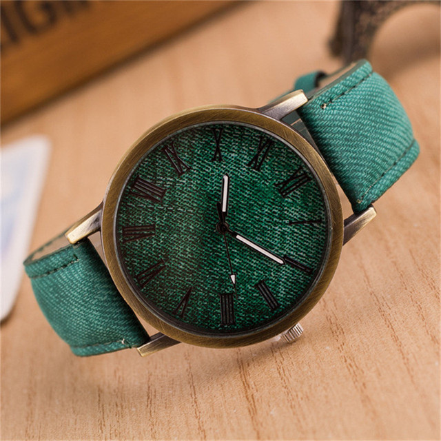 2019 New Fashion Jeans Casual Women Wristwatch Leather Strap Bracelet Watches Re