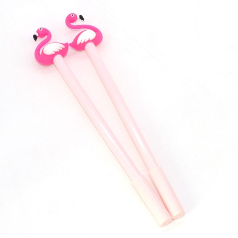 36 60 pcs Flamingo Gel Pen Lapices Kawaii Caneta Cute Animal Papelaria Criativa Canetas Kawai Lapices For School Stylo Jel Kalem in Gel Pens from Office School Supplies