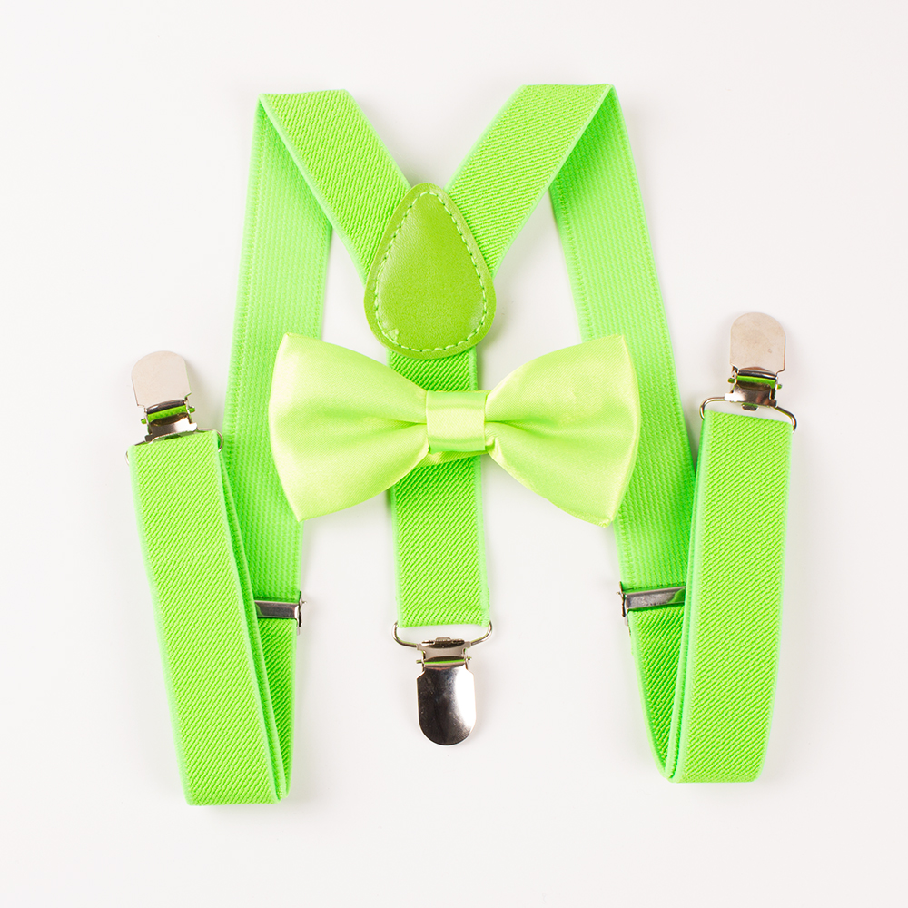 Mantieqingway Children Suspender Y back Boyes Braces Adjustable 3 Clip-on Suspenders For Girls Popular Bowtie Set Wedding Gifts