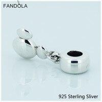 Compatible avec Pandora Bracelets 100% 925 Bijoux En Argent Sterling Solide Mickey Icône De Mode Charmes Originaux CKK