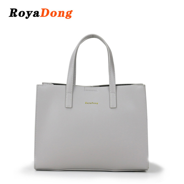RoyaDong Brand 2018 Women Handbags High Quality Pu Leather Big Tote Bag Female Fashion Dress Shoulder Bags Casual Handbag