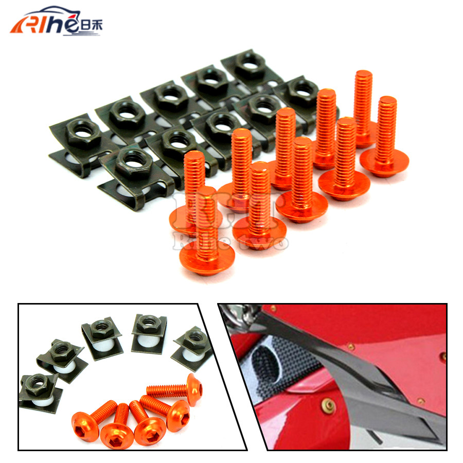 10 Pieces 6mm Motorcycle Fairing Body Screws For Yamaha YZF-R15 FAZER8 XJ6 DIVERSION F YZF-R125 MT-125 MT 125 MT125 MT07 MT universal 6mm motorcycle fairing screw kit set screws for yamaha tdm 850 fz1 fazer fz6 fz6r fz8 xj6 diversion xjr1300 fz16