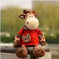 Free shipping 50cm giraffe sika deer plush toy for children birthday gift