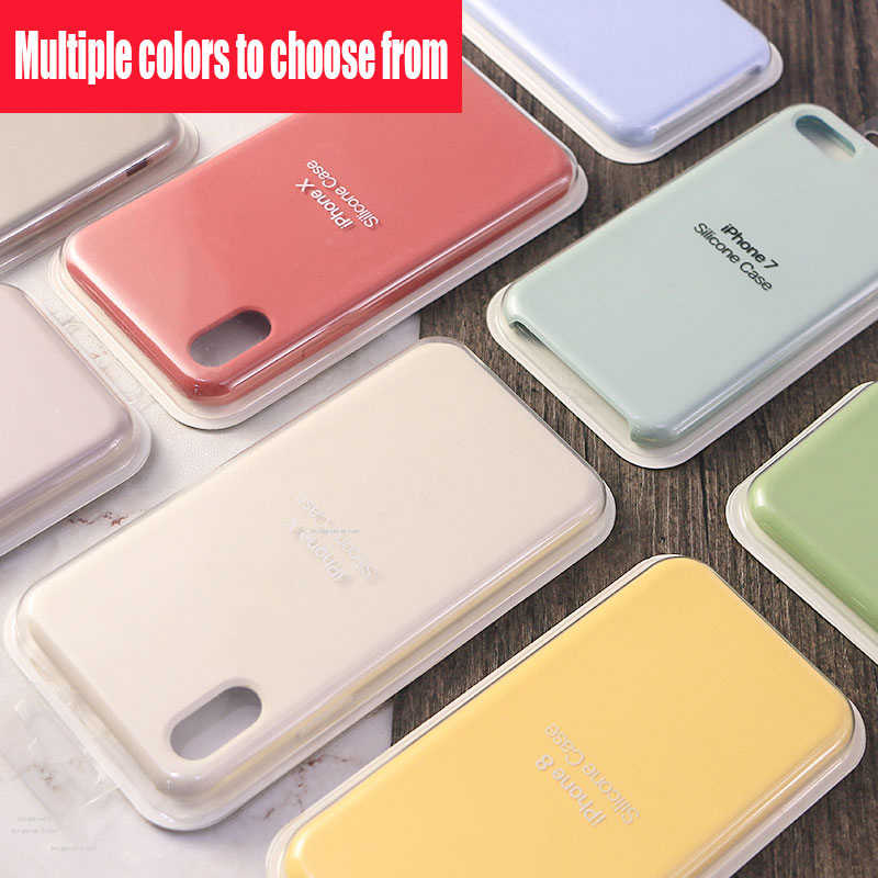 Haben Original Offizielle Logo Stil Silikon Fall Für Apple Iphone 7 8 6 6s Plus 5 5s Se Abdeckung Für Iphone X Xs Max Xr Telefon Fall Half Wrapped Cases Aliexpress