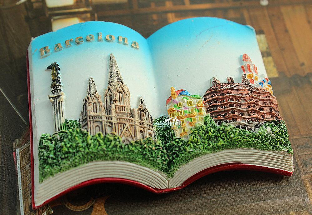 Spain Barcelona Tourist Travel Souvenir 3D Resin Decorative Fridge Magnet Craft GIFT IDEA