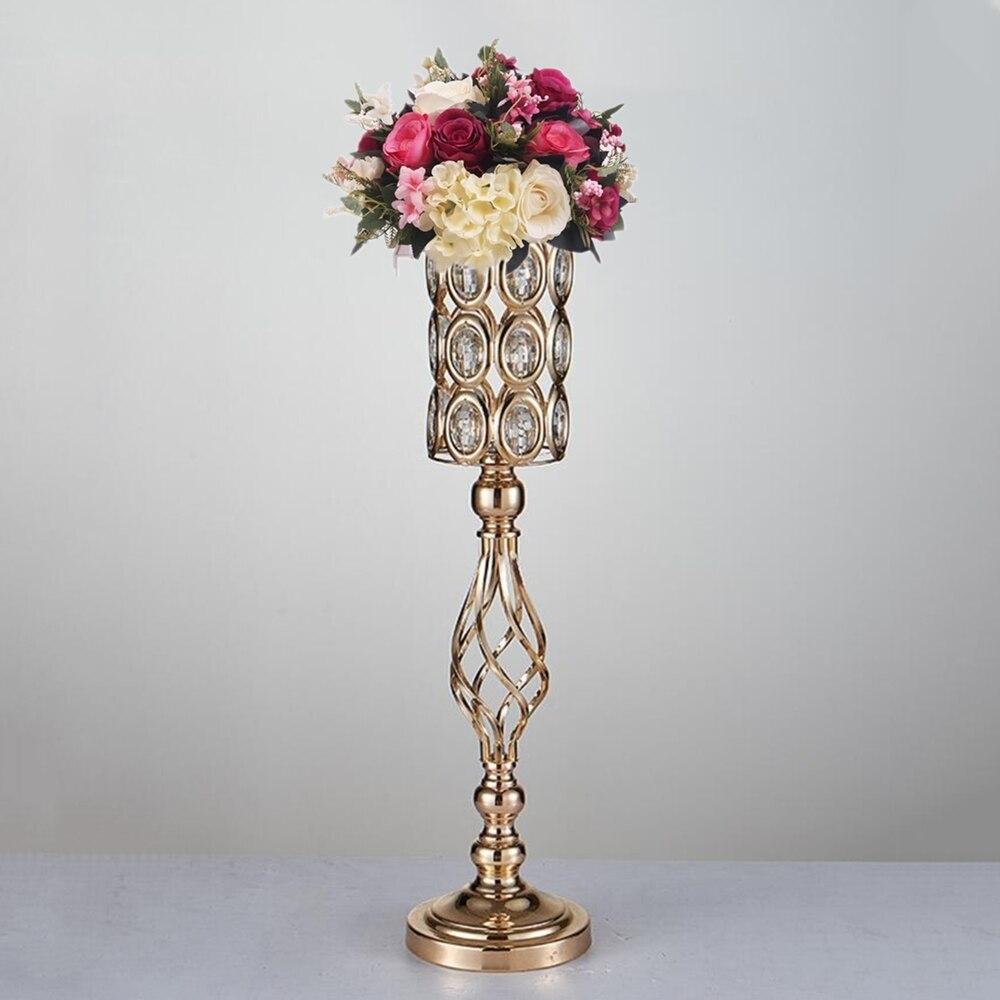 Metal Golden Candle Holders Hollow Wedding Table Candelabra ...
