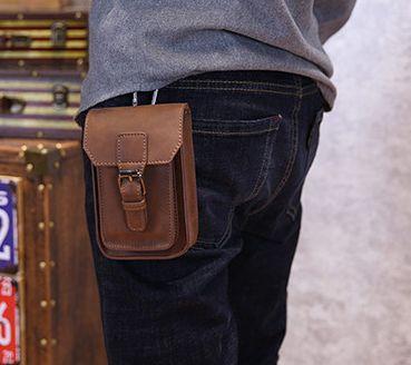 2017 New Cigarette 5-inch Phone Men Bag Casual Shoulder Men Waist Bags Fashion PU Leather Men Messenger bags a2091