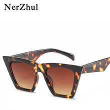 NerZhul Cat Eye Sunglasses Women Black/T