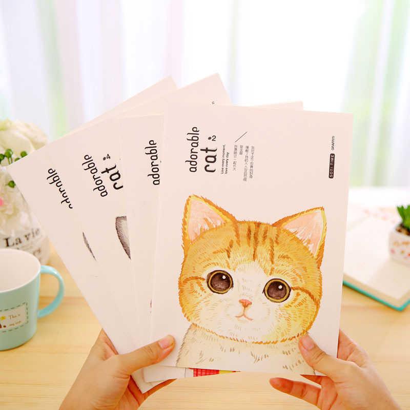 DL دفتر القرطاسية ، القط ، 16K ، B5 كبير طالب مذكرات لطيف القط اللوازم المدرسية دفتر مريحة