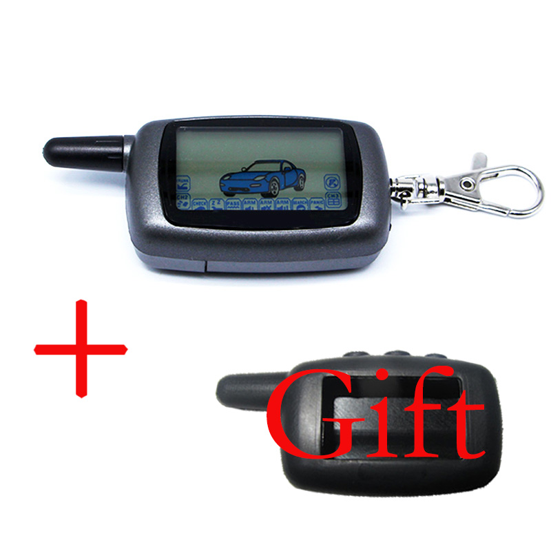 Russian version Twage A6 LCD Remote + Silicone <font><b>Key</b></font> Case Cover for starline A6 car remote two way car alarm system free shipping