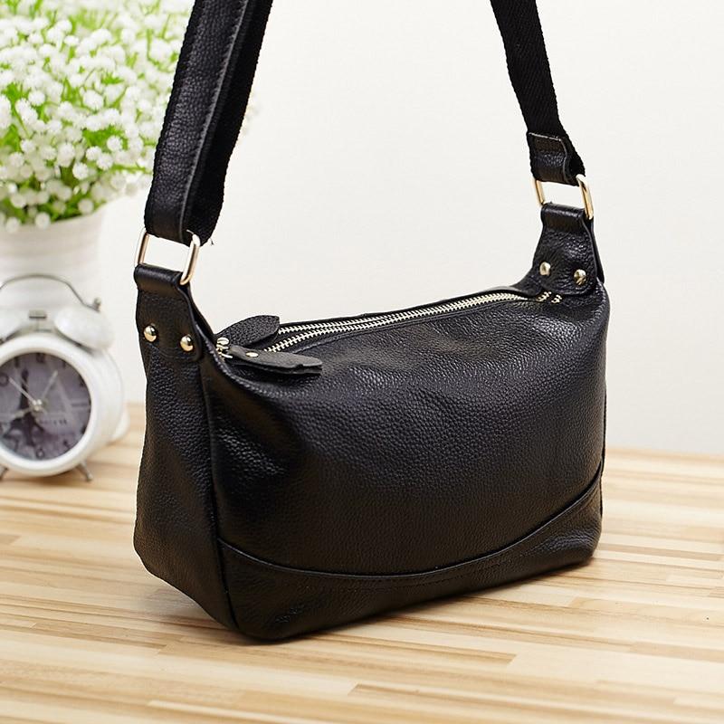 Women\'S Handbag Messenger Bag Casual Bags Soft Genuine Cow Leather Shoulder Bags Female Daily Cowhide Hobos 2180