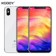 "XGODY Fluo N Dual 4G Smartphone 5.7"" 19:9 Notch Screen Android 8.1 Face ID 3GB+23GB Quad Core Mobile Phone 8MP Camera Cellphone(China)"