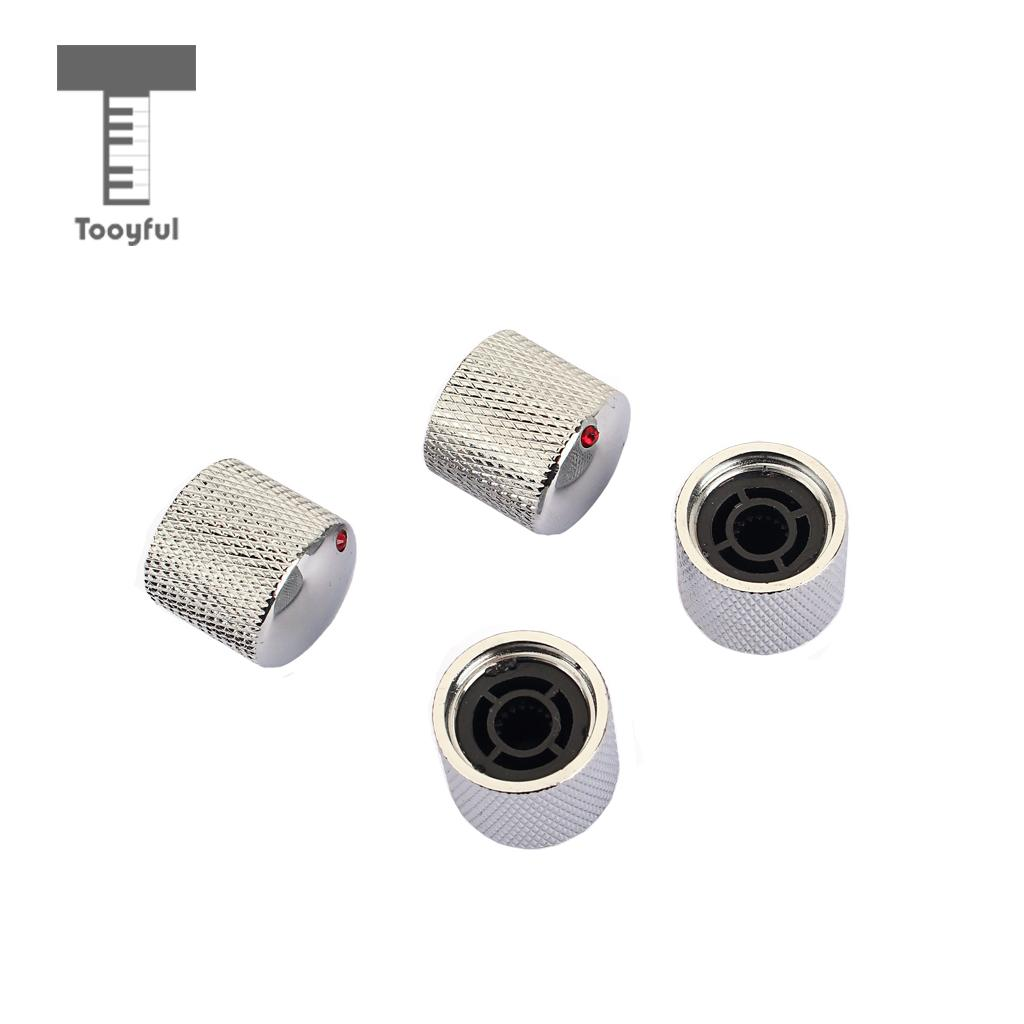 tooyful pack of 4 iron electric guitar tuning knob screw fixing tone volume knobs buttons with. Black Bedroom Furniture Sets. Home Design Ideas