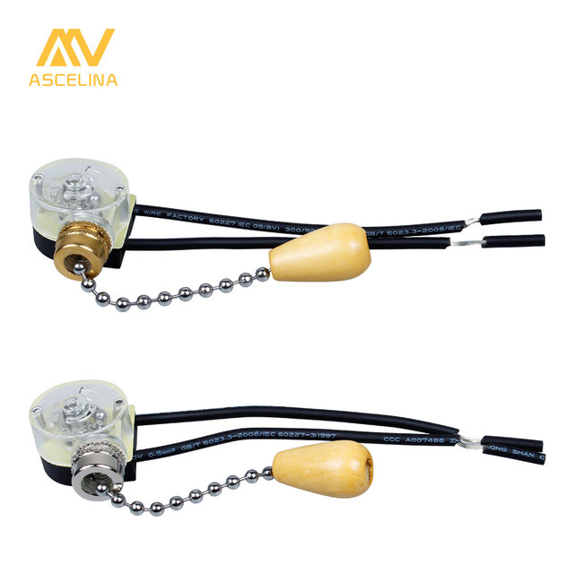 1Ps 3A 250VAC Momentary Action Ceiling Fan Two Wires Light Pull ...