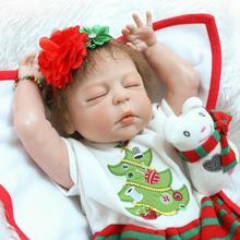 23Inch Bebe Reborn Babies Full Silicone Vinyl Realistic Baby Doll Reborn Girl Fashion Baby Alive Dolls Kid Christmas Reborn Doll
