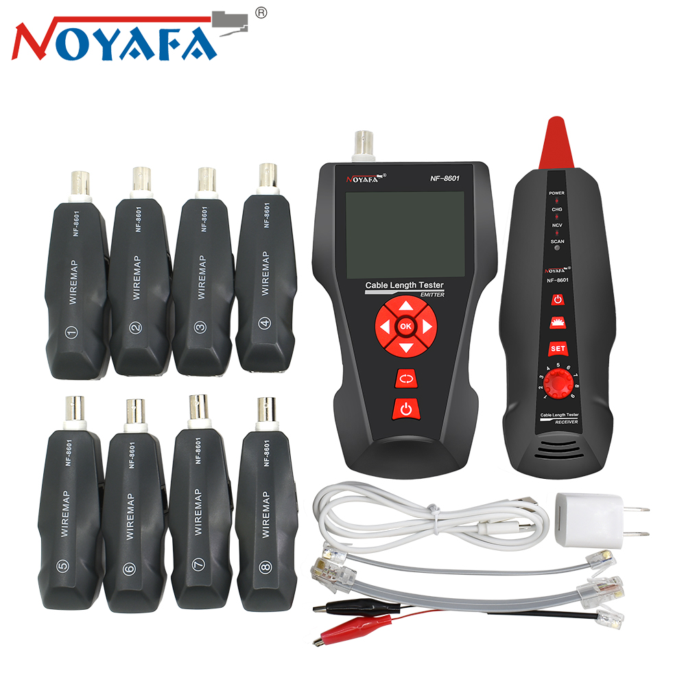 Original Noyafa NF-8601W RJ45 for BNC PING POE RJ11 Telephone Diagnose Tone Detector Line Wire Tracker LAN Network Cable Tester hot sale nf 8601 multi functional network cable tester lcd cable tester breakpoint tester for rj45 rj11 bnc ping poe with ce