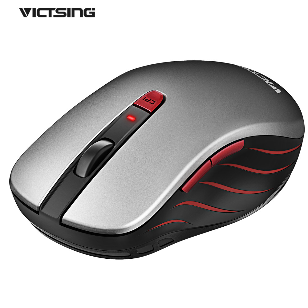 VicTsing 2.4G Wireless Mouse With Nano USB Receiver 6 Buttons 5 DPI Levels For Notebook PC Laptop MacBook Windows 10 Vista Mac victsing 2 4g wireless mouse with nano usb receiver 6 buttons 5 dpi levels for notebook pc laptop macbook windows 10 vista mac