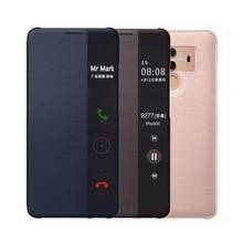 Cüzdan kılıf Kapak Lüks Deri telefon kılıfı Huawei Mate 10 Pro Için Huawei Mate10 Mate10pro 10pro 360 Koruma Pencere Akıllı Görünüm