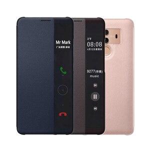 Image 1 - กระเป๋าสตางค์ฝาครอบหนังสำหรับ Huawei Mate 10 Pro Huawei Mate10 Mate10pro 10pro 360 ป้องกันสมาร์ทดู