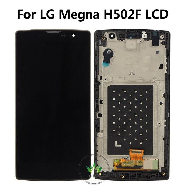 Pantalla lcd para lg magna h502f h500f h500r h502g h500n y90 con touch digitalizador asamblea con marco + herramientas de envío gratis