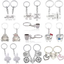 c7a599b44c 2 Pcs Love Couple Keychain You Are My Person Rabbit Frog Cups Key Chain  Animal Heart Key Ring For Lovers Best Friends Llaveros