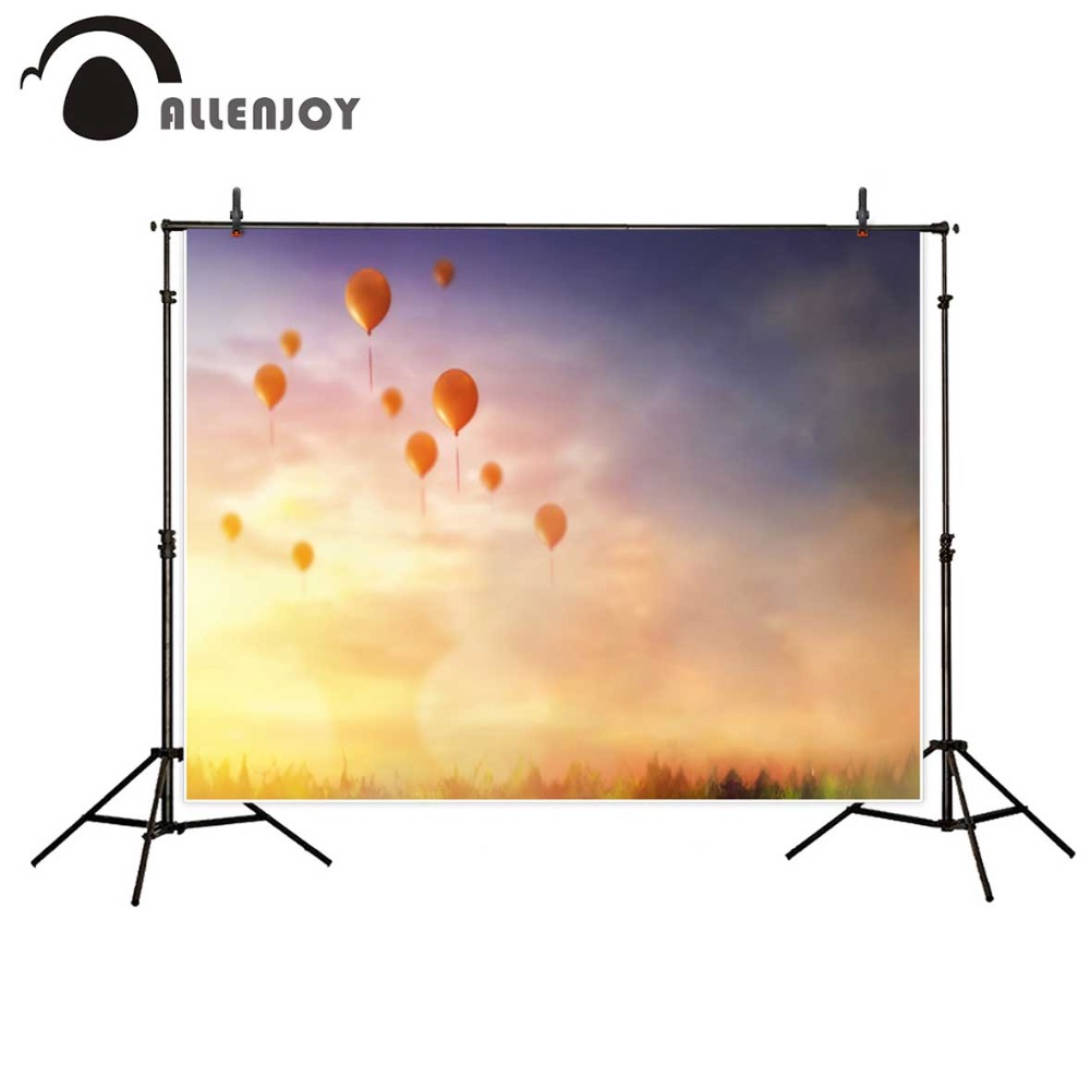 Allenjoy photography backdrops balloons sunshine romantic wedding backdrop baby photography photo background for photo studio 600cm 300cm mini baby child photography lollipop gift balloons background one hundred days baby photos lk 3980