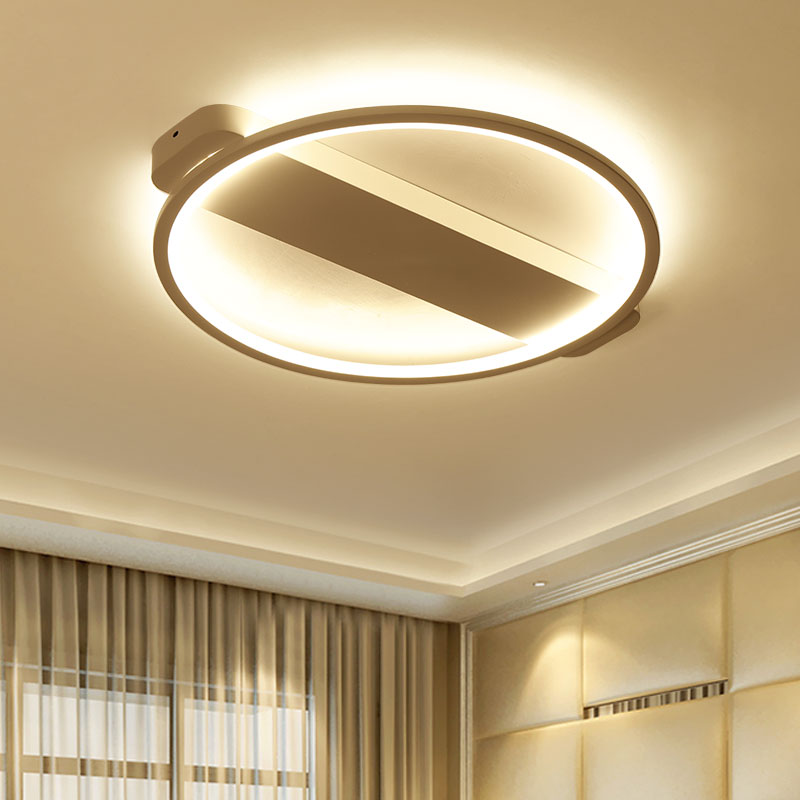 Simple New Dsigner LED ceiling lights black white lamparas de techo metal frame with acrylic cover bedroom dinning lighting noosion modern led ceiling lamp for bedroom room black and white color with crystal plafon techo iluminacion lustre de plafond