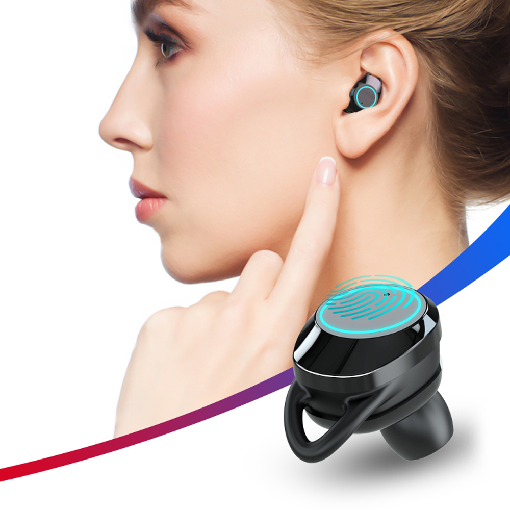 $34.79 Hangrui Wireless Headphones Bluetooth 5.0 Earphone Sport Waterproof Earbuds for Samsung iPhone With Charger Box Micphone Headset