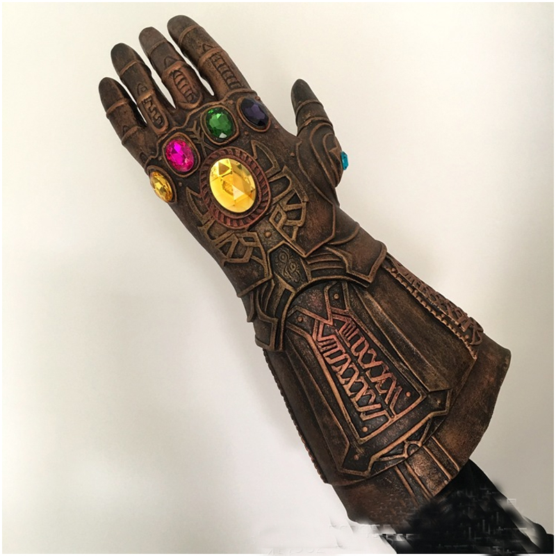 Marvel Superhero Infinity War Gloves Cosplay Avengers Thanos Glove Toy Halloween Party TOY Super Hero Action Figure Model Toy 12 inches superhero avengers infinity war batman vs superman bruce wayne dc comics cape action figure collectible model toy l431