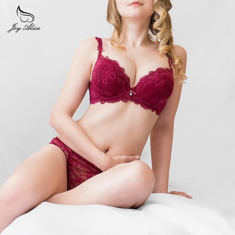 padded   bra   panties   set   Intimates Push Up   Bra     Set   Underwear 2019 Hot Sale Floral Embroidery Lace Women   Bra   Panty lingerie