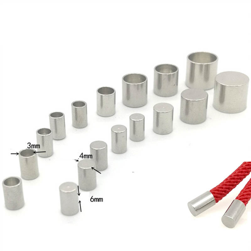 20pcs Stainless Steel End Caps Fit 1.5/2/3/4/5mm Leather Rope For DIY Jewelry Making Round Cord Fastener End Crimping Findings(China)