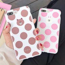 TPU Case Brown Bear Silicone Cover For iPhone 7 Plus 8 Plus X XS XR Xs Max Cases Soft TPU Cute Cover For iPhone 6 6s Plus Case цена и фото