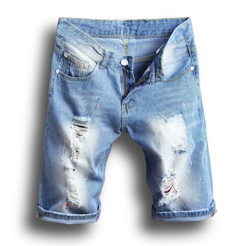 Online Get Cheap Mens Shorts Denim Ripped -Aliexpress.com ...