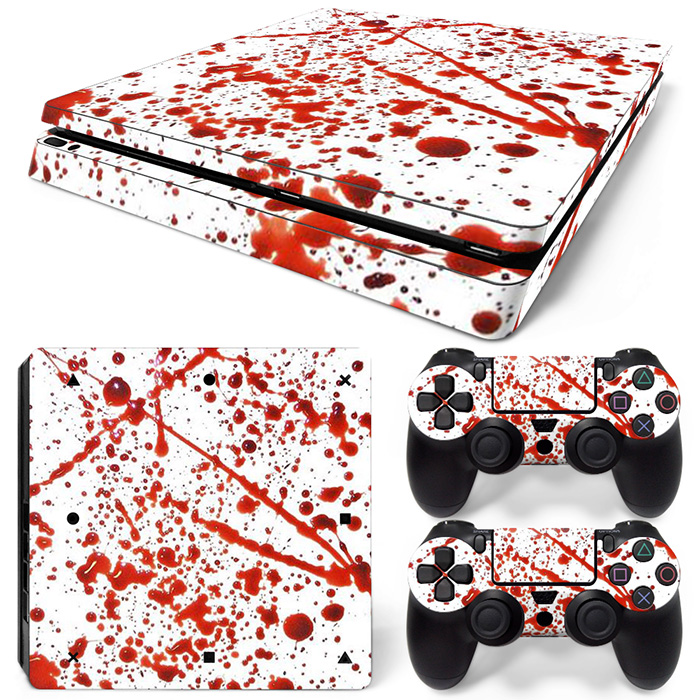 Free Drop Shipping Vinyl Decal Skin For PS4 Slim Console Sticker For Sony Playstaion 4 for PS4 Slim Skin sticker #20509