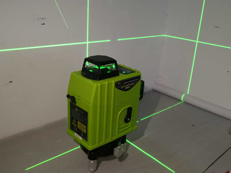 Профессиональный 12 линии 3DLevels зеленый лазерный уровень Крест лазерной линии с наклоном Функция и автоматическое выравнивание Exterior360Rotating красный уровень обновления