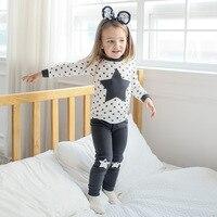 Children Pajamas Underwear Sets Winter Cotton Boy Pajamas Wear Long Sleeve Cotton Kids Home Service Baby