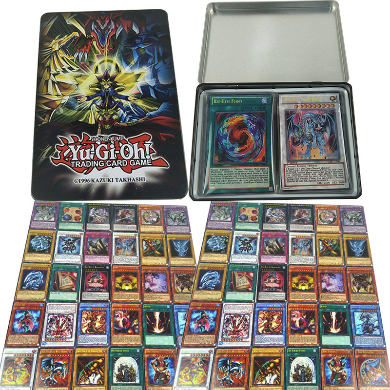 60PCS Yugioh Rare Flash Cards Yu Gi Oh Game Paper Cards Kids Toys Girl Boy Collection Yu-Gi-Oh Cards Christmas Gift With Box