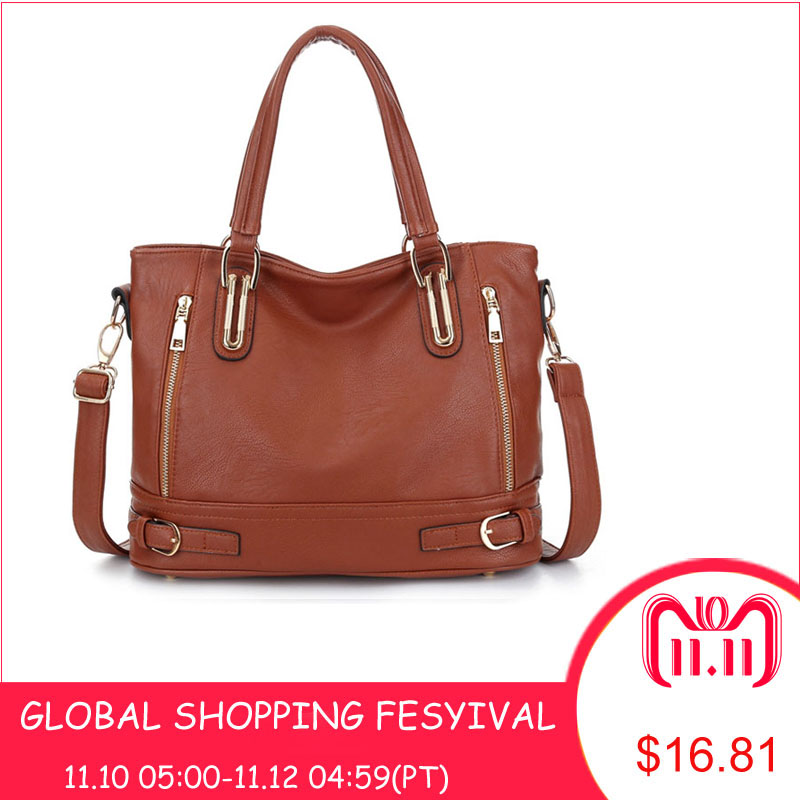 2018 New Leather Women's Handbag Luxury Women Shoulder Bags Designer Female Crossbody Messenger Bag Lady 2016 women fashion brand leather bag female drawstring bucket shoulder crossbody handbag lady messenger bags clutch dollar price