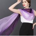 De alta calidad 100% bufanda de seda de mora natural bienes Mujeres de seda bufandas Largas Del Mantón hijab abrigo de la bufanda del color sólido Femenino 180x70 CM