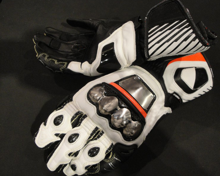 Willbros Full Metal D1 Long Dain Genuine Leather Black White Orange Mororcycle Racing Motorcycle Gloves цена и фото