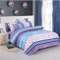 New Fashion YBL Reactive Printed Cotton A Family Of Four Bedding Cotton Bed Linen Quilt Set