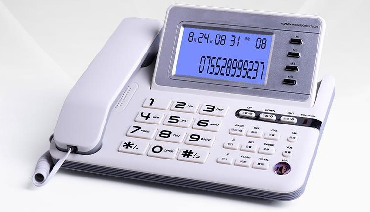 High quality Business fixed Phone Caller ID Telephone PBX Office Phone home landline big LED screen