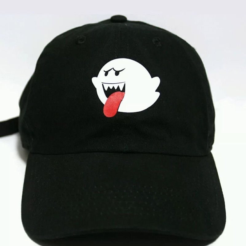 New Arrival Women Men Unisex Bryson Tiller Boo Ghost Trapsoul Funny   Cap   Hat Hip-hop Adjustable   Baseball     Cap   Hat Black