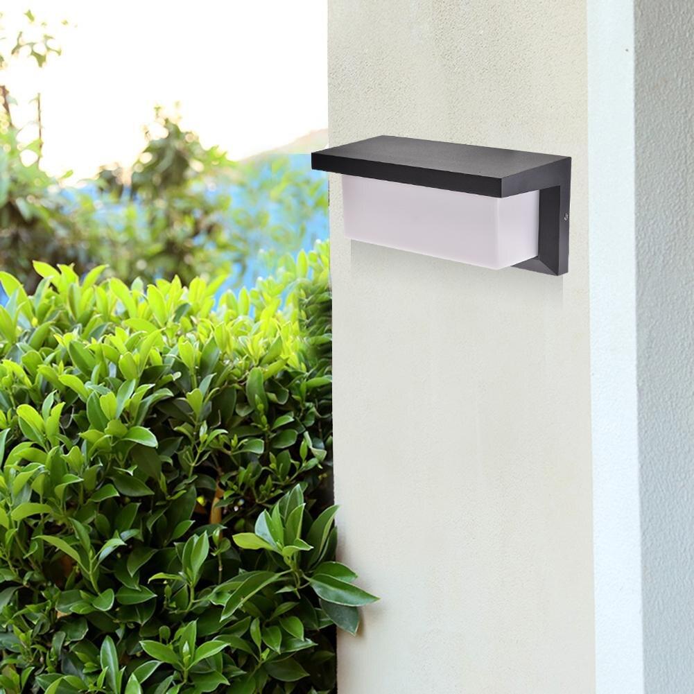 1 шт. 10 Вт Открытый водонепроницаемый светодиодный настенный светильник алюминиевый садовый коридор для двора крыльцо Настенные светильни